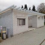 Die Dacharbeiten beginnen (17.11.13)